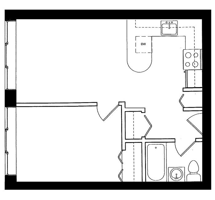 1 Bedroom - Suite A
