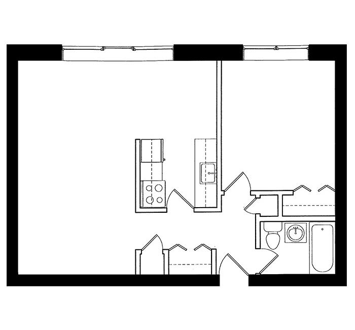 1 Bedroom - Suite C