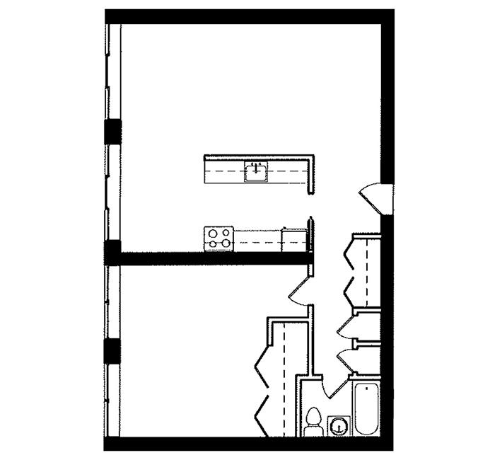 1 Bedroom - Suite E