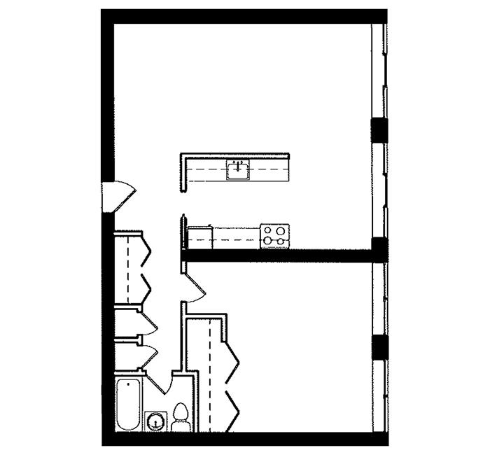 1 Bedroom - Suite F