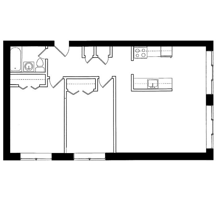 2 Bedroom - Suite D