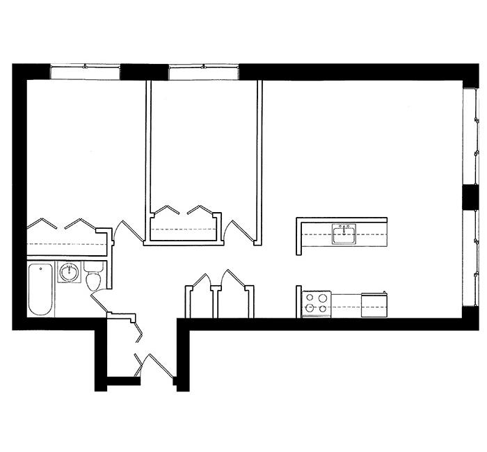 2 Bedroom - Suite D1